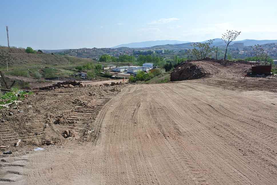 Обиколницата во изградба, поглед од кај Баргала