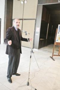 Иван Јовев говори за изложените дела