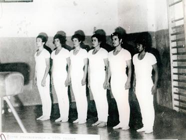 1975 -Машката екипа на ДТВ-Партизан Фуад,,Маџаро, Миле Јакимов, Методи, Басовски  и Ризата